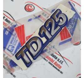 """SCRITTA ADESIVA """"TD 125""""..."""